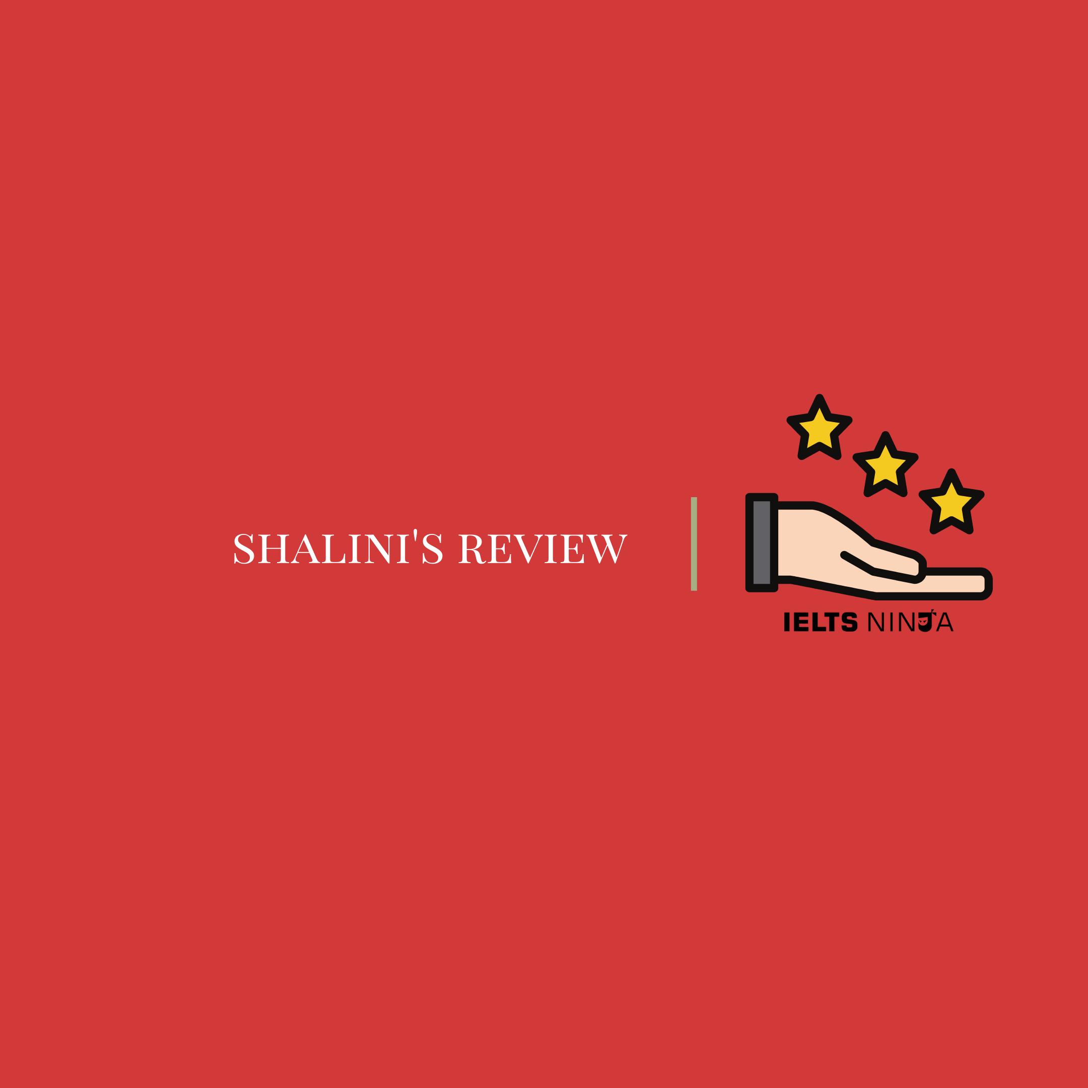 Shalini's Testimonial